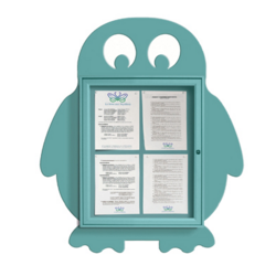 Vitrine Pingouin 4 feuilles A4 turquoise