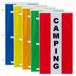 Bannière verticale Camping avec bandes