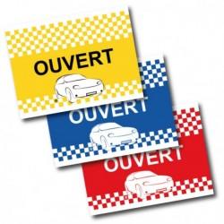 Drapeau de voiture Ouvert