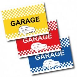 Drapeau de voiture Garage - Bleu