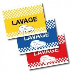 Drapeau de voiture Lavage - Bleu