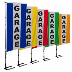 KIT complet Garage 1 Mât téléscopique + 1 bannière verticale