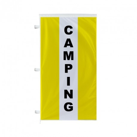 Pavillon vertical Camping avec bandes - Jaune