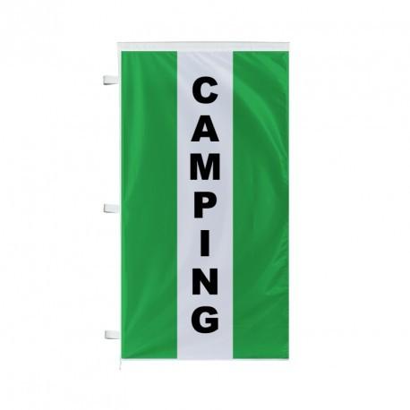 Bannière verticale camping vert