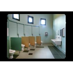 Miroir incassable pour sanitaires sans cadre