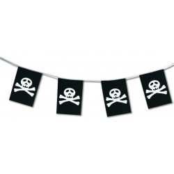 Guirlande Pirate tête de mort en plastique