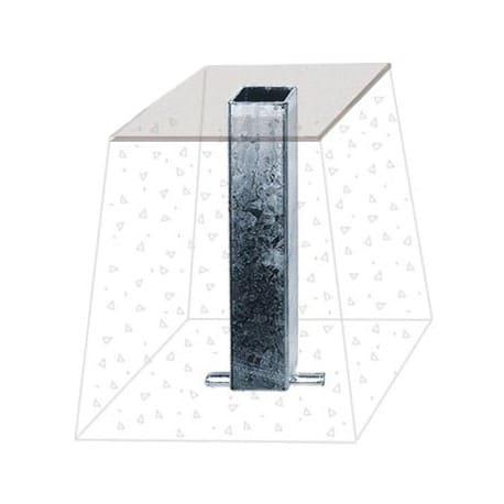Fourreau à sceller pour tubes carrés