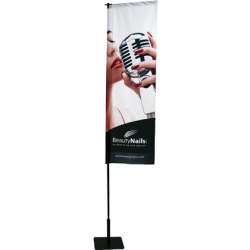 Windoor - Voile 180 x 60 cm sur mât réglable