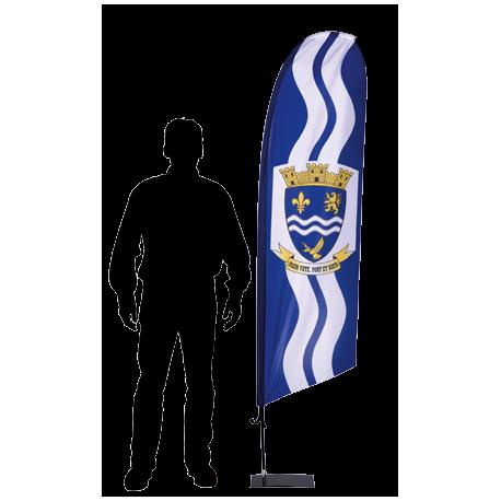 Ecoflag - Voile 170 x 50 cm sur mât hauteur 2,20 m