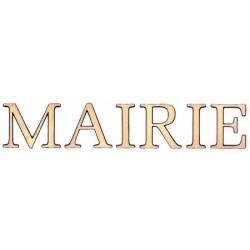 Lettres de façade en bronze - MAIRIE