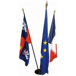 Lot de 3 drapeaux de mairie