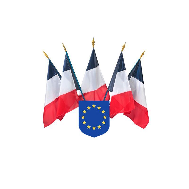 Ecusson porte drapeaux union europ enne for Porte drapeaux