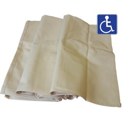 Rideaux de rechange pour isoloirs handicapés