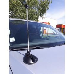 Porte-drapeaux de voiture avec ventouse